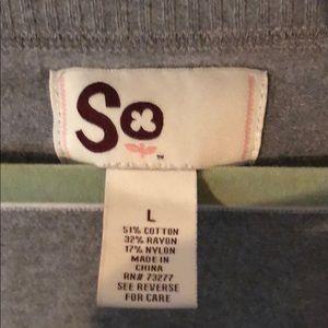 SO Sweaters - Grey striped sweater